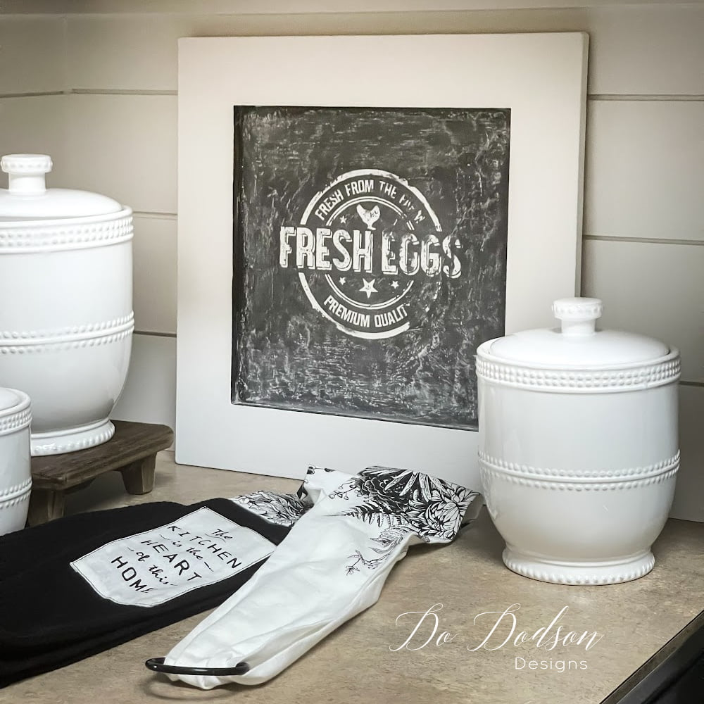 How I Made Simple DIY Small Chalkboard Signs Out Of Thrift Store Art