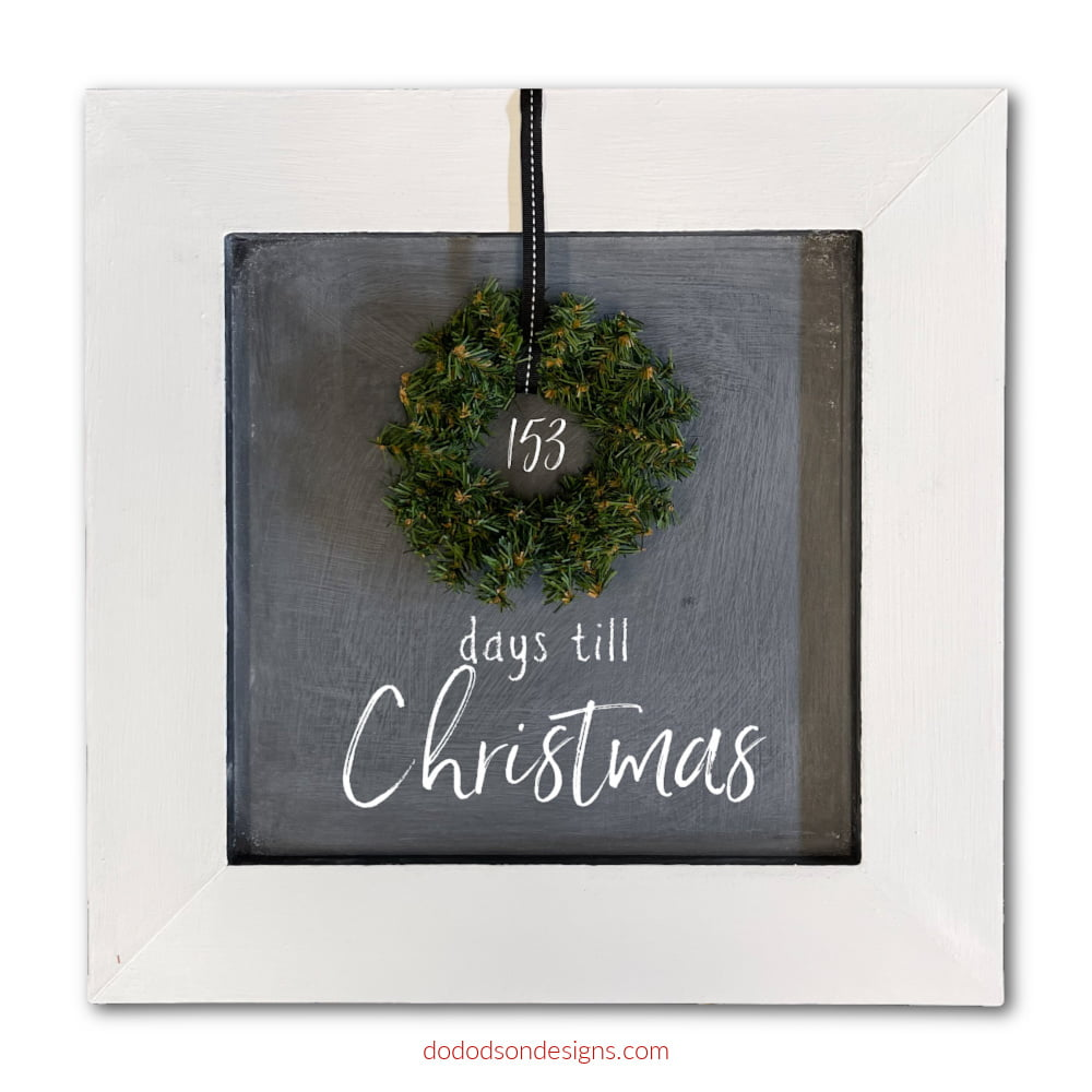 Make this cute DIY small chalkboard sign from thrift store wall art. It's so easy and a great way to countdown to Christmas!