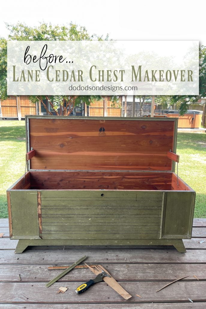 Before And After Lane Cedar Chest Makeover   Do Dodson Designs