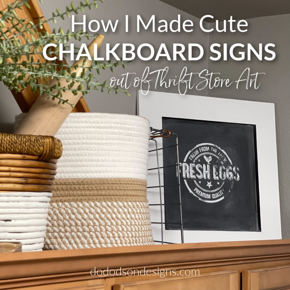 Learn how I made cute DIY small chalkboard signs out of thrift store art.