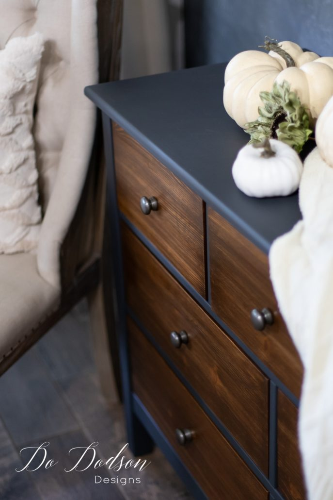 The Sophisticated Look Of A Black And Wood Dresser Makeover