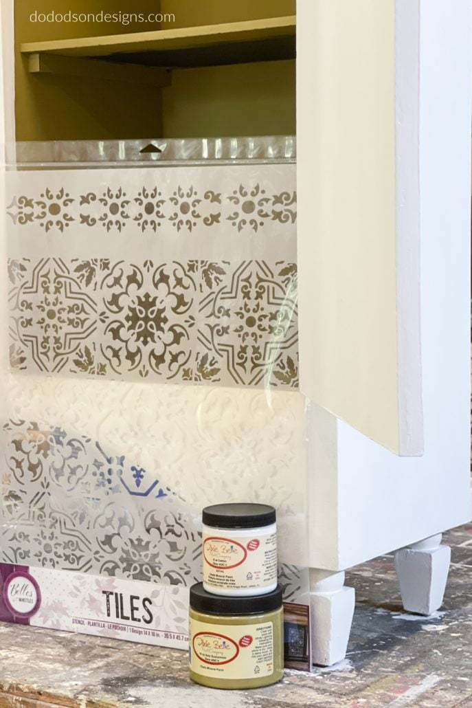 How To Apply A Stencil After Repainting Chalk Painted Furniture