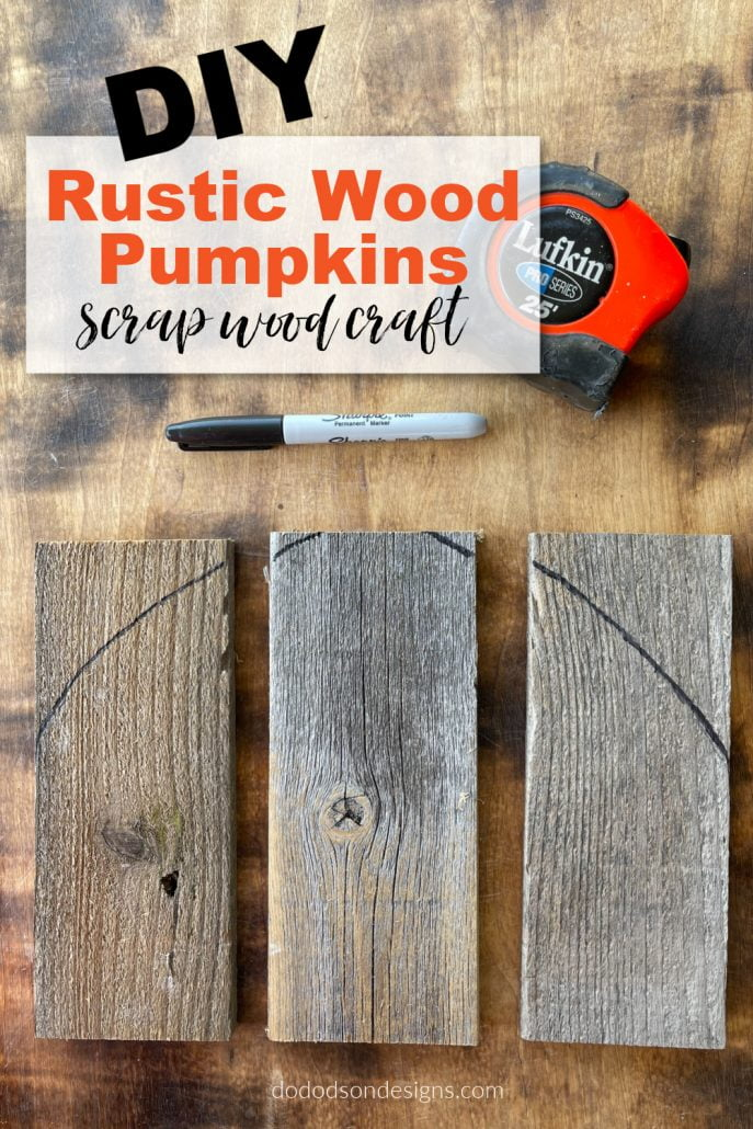 The perfect Fall craft for those that love DIY rustic wood pumpkins. And I made them out of scrap wood. I love to repurpose when I can.