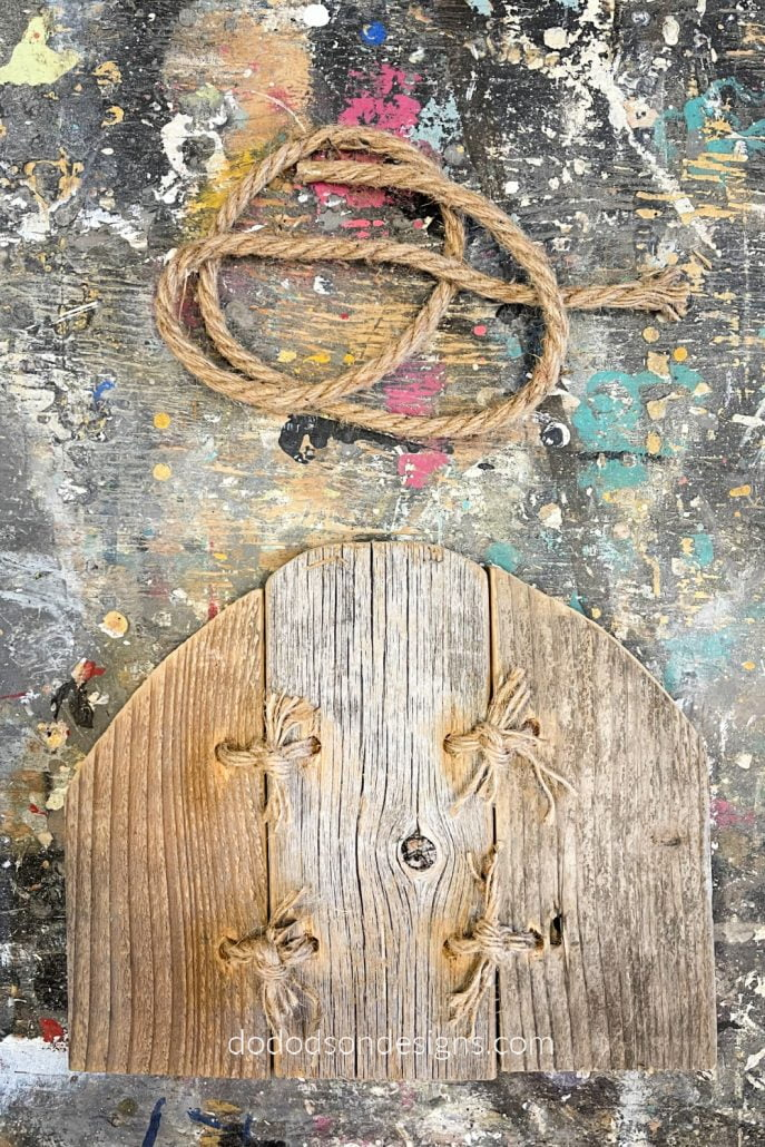 After threading the jute twin and connecting the wood pumpkin pieces together, you can paint and embellish them to match your Fall  home decor style.