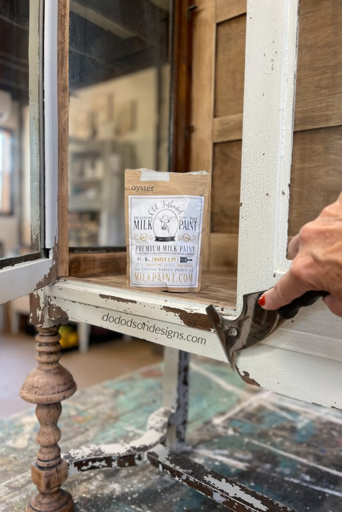 How To Paint Wood Furniture With Chippy Milk Paint