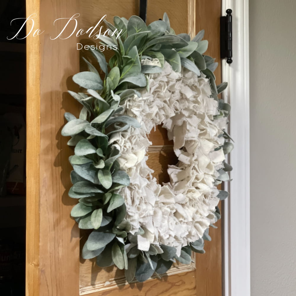 How To Make A Quick And Easy Drop Cloth Wreath