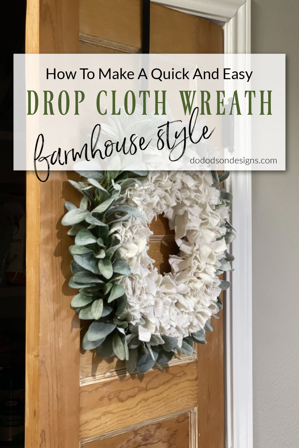 How To Make A Quick And Easy Drop Cloth Wreath With Photos